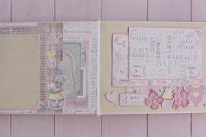 Детский фотоальбом для новорожденной девочки Ромашка - Опис