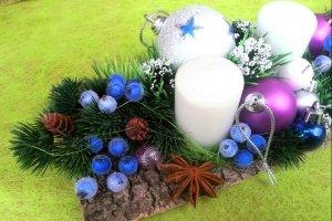 """Різдв""""яний підсвічник на 3 свічки"""