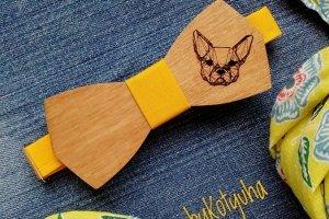 Деревянный галстук Французский Бульдог