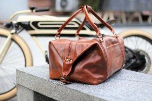 Брендовая кожаная сумка Sport&Travel DS - Опис
