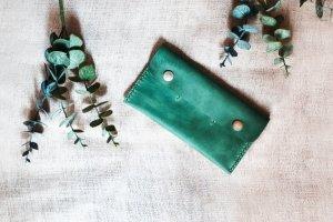 Кожаный кошелек green - ІНШІ РОБОТИ