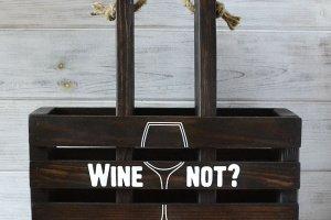 Короб для вина і келихів