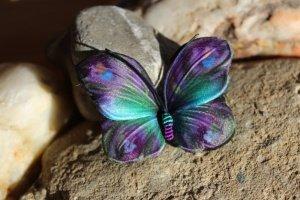 Купить заколку-брошь бабочку Кристи - ІНШІ РОБОТИ