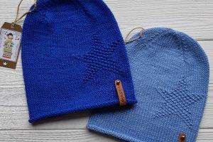 Хлопковые весенне-осенние шапочки (синяя, голубая) - ІНШІ РОБОТИ