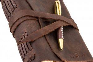 Оригинальный кожаный блокнот ручной работы подарок мужчине - Опис