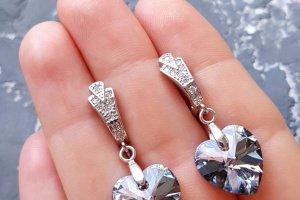 Комплект з натуральними перлами та Swarovski кристалами - Опис