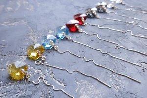 Срібні сережки з кристалами Swarovski серце - Опис