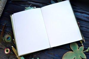 Кожаный блокнот со сменной бумагой.  - Опис