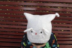 Вязанная шапка Сова