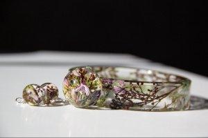 Робота Комплект украшений с цветами (браслет, кулон, сережки)