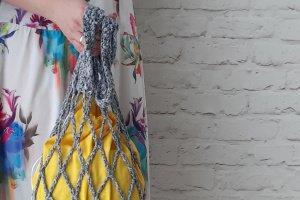 Авоська из принтованной ленты с внутренним мешочком - ІНШІ РОБОТИ
