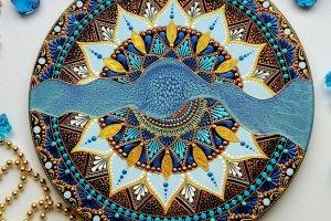 тарілка декоративна Водоспад - Опис