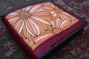 Кожаный кошелек Цветочный (CMKn131) - Опис