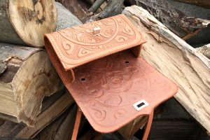 сумка шкіряна Трипілля -міні рижа - Опис