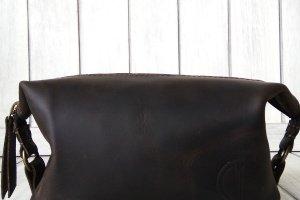 Кожаный Несессер коричневого цвета. - Опис