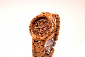 Робота Дерев'яний годинник Кап горіха Чоловічій годинник
