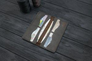 Портмоне (купюрник) из кожи ручной работы VOILE lw5-brn - Опис