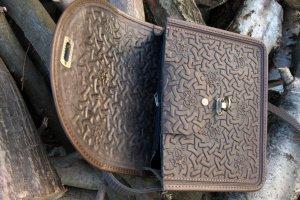 сумка шкіряна Рокса коричнева - Опис