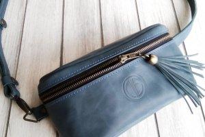 Кожаная сумка на пояс - Опис