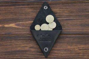 Робота Монетница ручной работы из кожи Краст VOILE cn1-kblk
