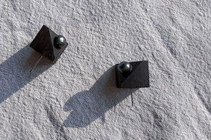 Сережки Куб з перлиною - ІНШІ РОБОТИ