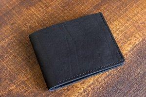 Робота Шкіряний гаманець чорний