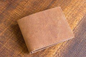 Шкіряний гаманець рудий - ІНШІ РОБОТИ