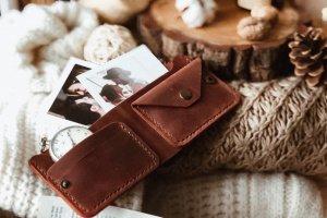 Кожаный бумажник в классическом дизайне Bifold 2.0 - ІНШІ РОБОТИ