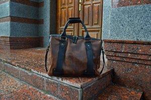 Робота Кожаная сумка для ноутбука, Мужская сумка мессенджер