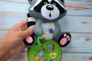 Робота Енот - искалочка, игрушка - антистресс для всей семьи
