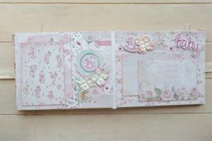 Детский фотоальбом для новорожденной девочки Vanilla - Опис