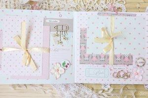 Детский фотоальбом для новорожденной девочки Little Bunny - Опис