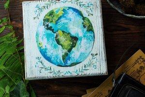 Робота Двойная купюрница Зеленая планета
