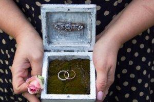 шкатулка для свадебных колец с мхом - ІНШІ РОБОТИ