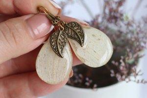 Сережки з пелюсток орхідеї • Серьги лепестки белые орхидея - Опис