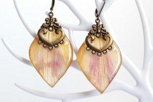 Сережки з пелюсток тюльпана • Серьги лепестки  - ІНШІ РОБОТИ