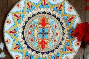 тарілка декоративна  Red-blue - ІНШІ РОБОТИ
