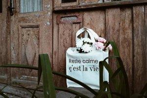 """Дизайнерская сумка-шопер """"c'est la vie"""" - Опис"""