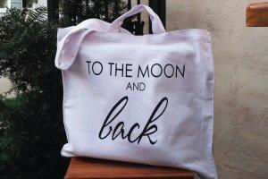 """Дизайнерская сумка-шопер """"to the moon and back"""" - ІНШІ РОБОТИ"""