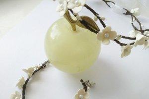 Свадебный венок и браслет айвори - ІНШІ РОБОТИ