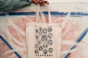 """Дизайнерская сумка-шопер """"""""Avengers"""""""" - Опис"""