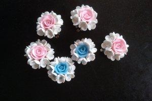 Клипсы бело розовые - Опис