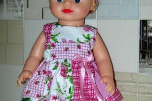 Робота Набор красивой одежды для кукол Алины в рюкзаке.