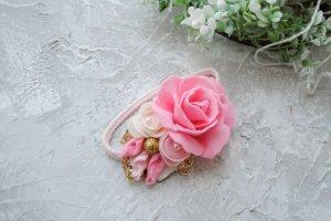 Робота Рожеві квіти  з золотом...