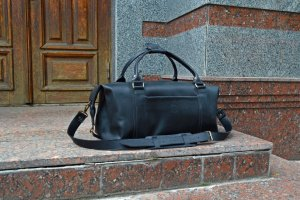 Робота Черная дорожная сумка, Большая кожаная спортивная сумка
