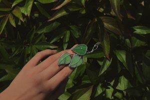 """Брошка """"Зелені листки"""" - ІНШІ РОБОТИ"""