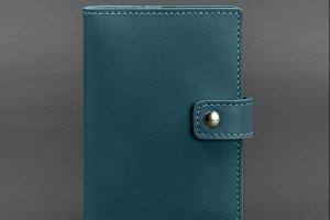 Кожаная обложка для паспорта 5.0 (с окошком) зеленая - ІНШІ РОБОТИ