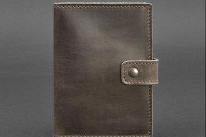 Кожаная обложка для паспорта 5.0 (с окошком) коричневая