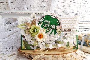 Робота Изумрудный свадебный конверт с инициалами и датой
