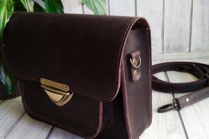 Кожаная сумка через плечо - Опис